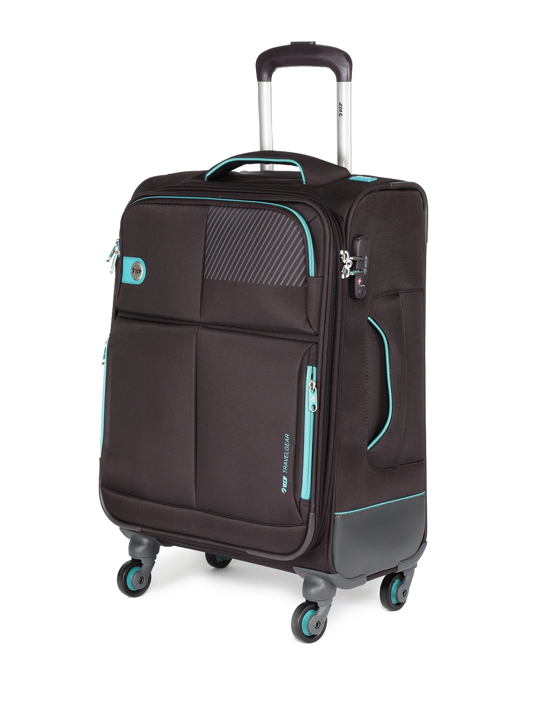 fc4a913240 VIP Unisex Coffee Brown MODULUS 4W EXP STROLLY 59 Cabin Trolley Suitcase