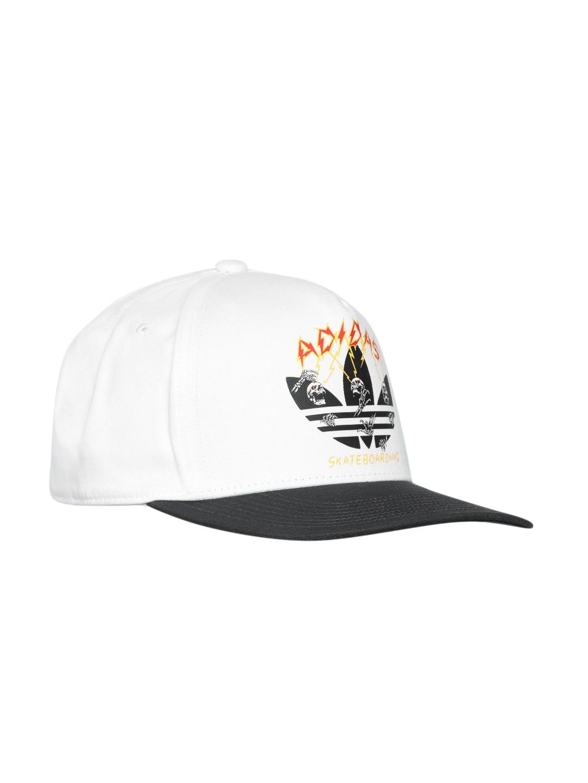 7e98e20514d ADIDAS Originals Men Off-White   Charcoal Grey IAIA Printed Skateboarding  Cap