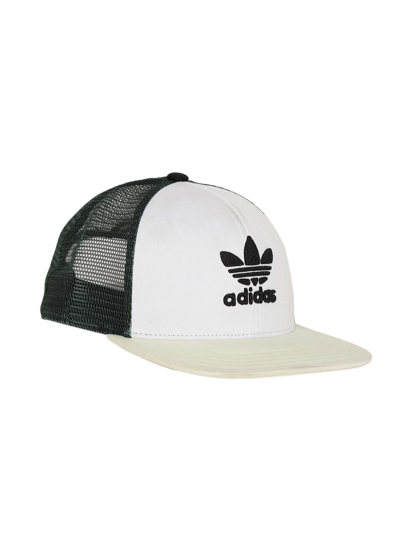 96b2d0a99a9 ADIDAS Originals Unisex Off-White   Green T H TRUCKER CA Colourblocked  Snapback Cap
