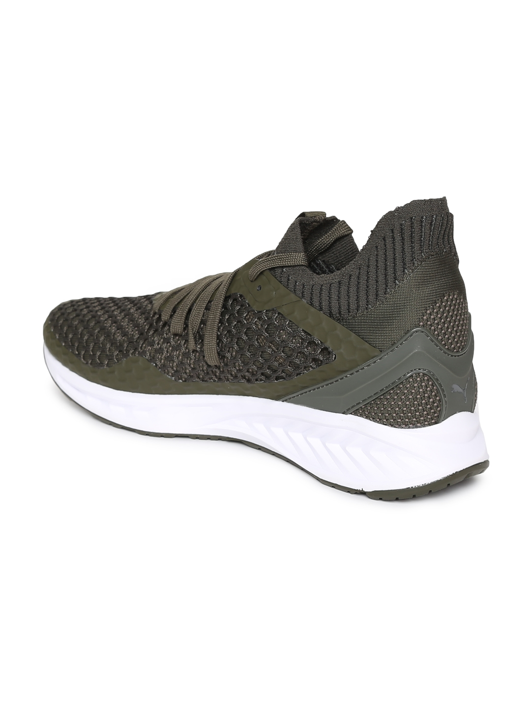 a7a686505a8 Buy Puma Men Olive Green IGNITE NETFIT Sports Running Shoes - Sports ...