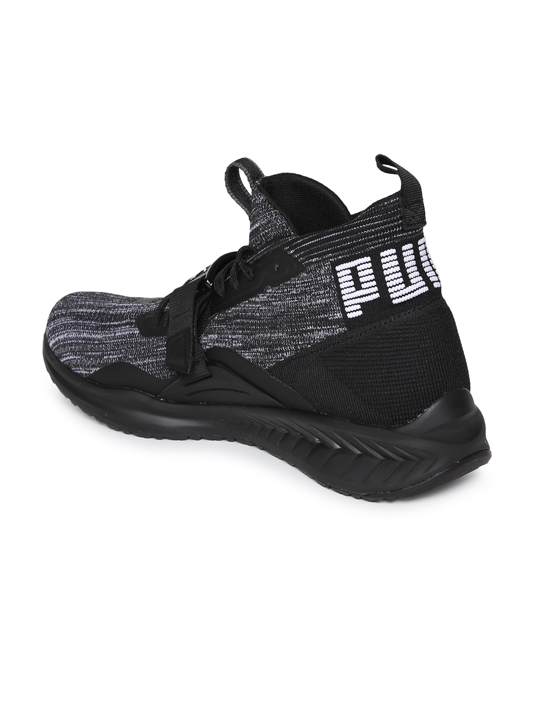 39909104d063 Buy Puma Men Charcoal IGNITE EvoKNIT 2 Running Shoes - Sports Shoes ...