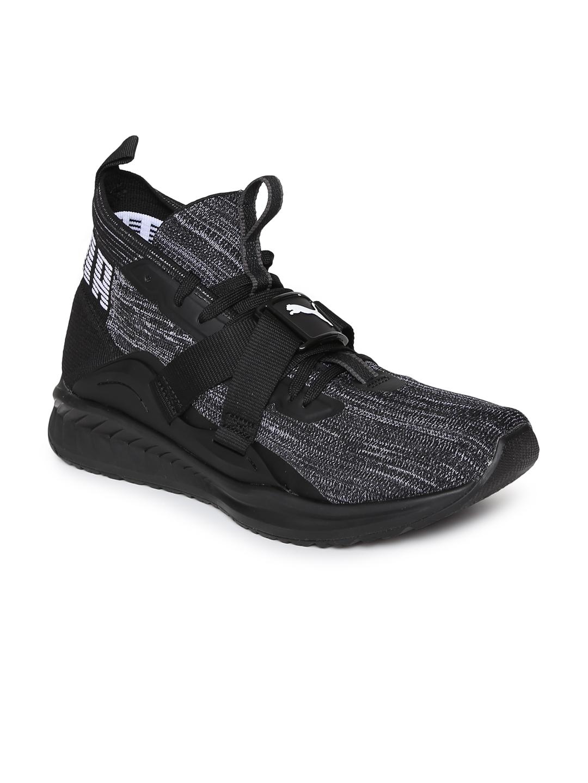 4c51f687cc9b2e Buy Puma Men Charcoal IGNITE EvoKNIT 2 Running Shoes - Sports Shoes ...