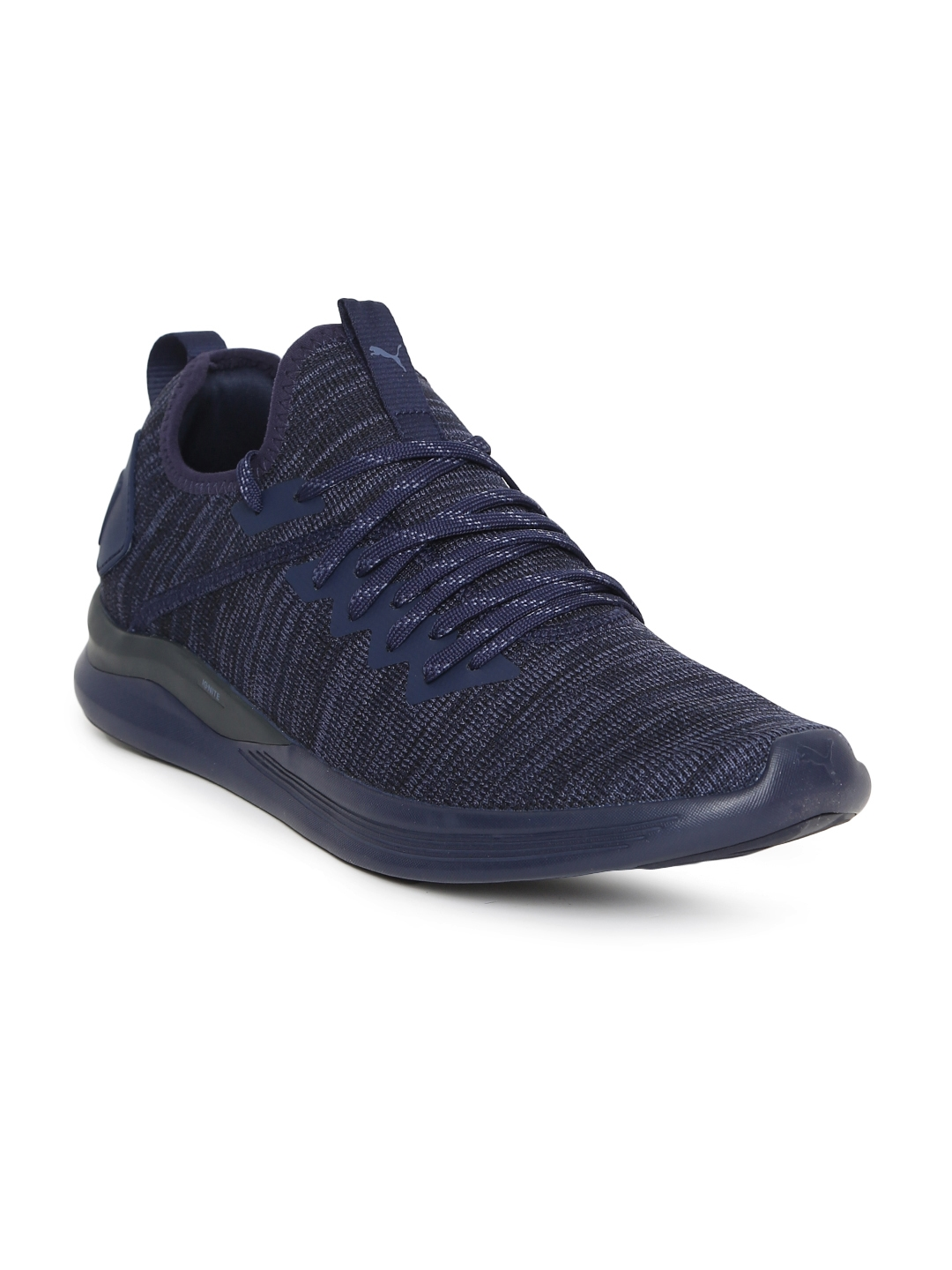 new style 4a7a0 f6043 Puma Men Navy Blue IGNITE Flash evoKNIT Running Shoes