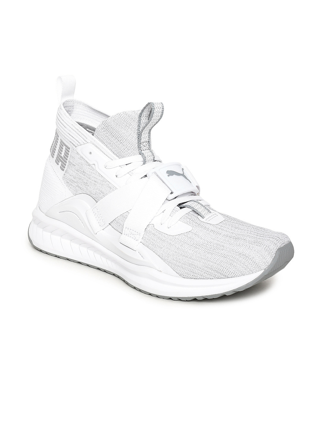 cc072232ca2 Buy Puma Men White IGNITE EvoKNIT 2 Mid Top Running Shoes - Sports ...
