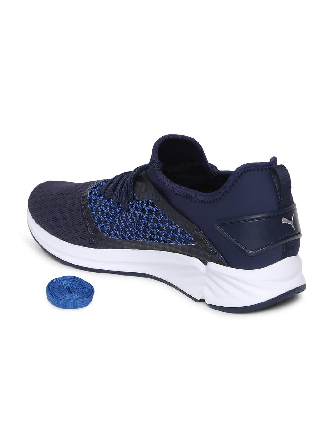Buy Puma Men Navy Blue IGNITE 4 NETFIT Running Shoes - Sports Shoes ... cca7719c8
