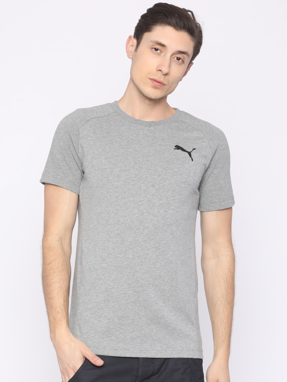 98218839e5ea Buy Puma Grey Evostripe Move Round Neck T Shirt - Tshirts for Men ...