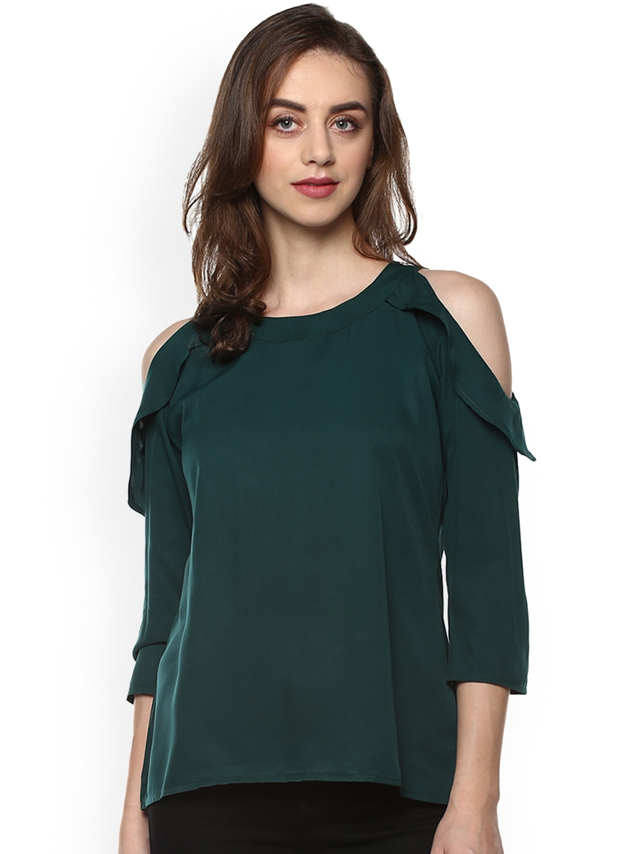Mayra Women Green Solid Top