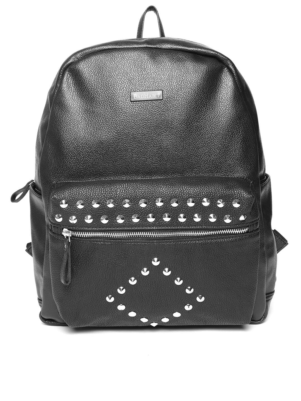 36df36ccf6 Buy BAD HABIT Men Black Studded Backpack - Backpacks for Men 6707240 ...