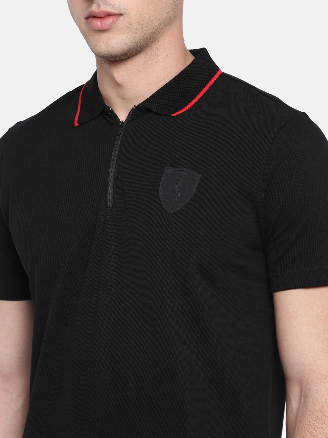 e3d330f8876 Buy Puma Men Black Solid Ferrari Polo T Shirt - Tshirts for Men ...