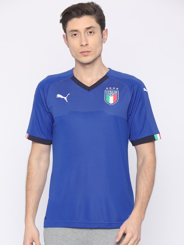 b89e5ba7da4 Buy Puma Men Blue FIGC Italia Home Replica T Shirt - Tshirts for Men ...