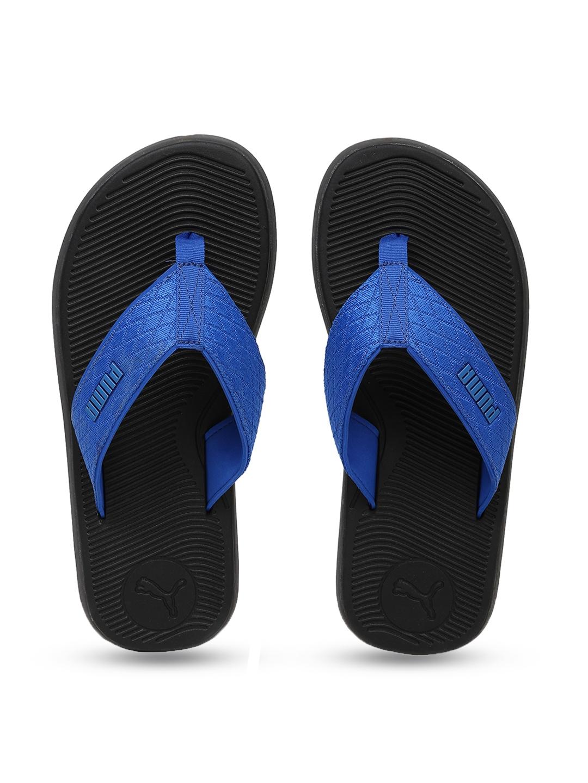 b7879edcf359 Buy Puma Men Black   Blue Solid Thong Flip Flops - Flip Flops for ...
