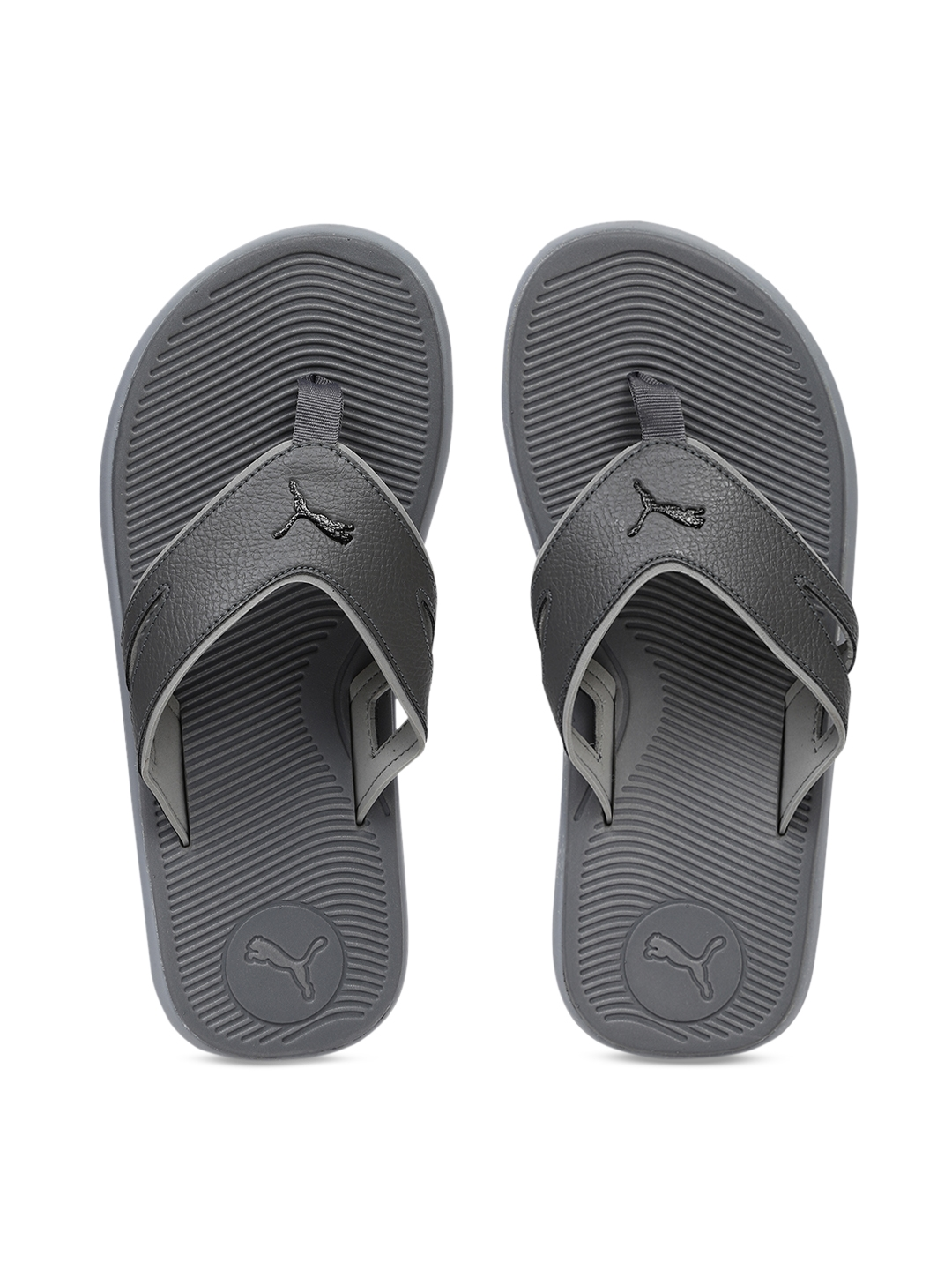 d2e3c499df5bc4 Buy Puma Men Grey Solid Thong Flip Flops - Flip Flops for Men ...