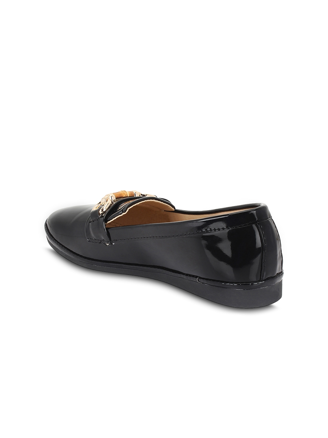32b5333e0d7 Buy Qoo10 Women Black Solid Synthetic Ballerinas - Flats for Women ...