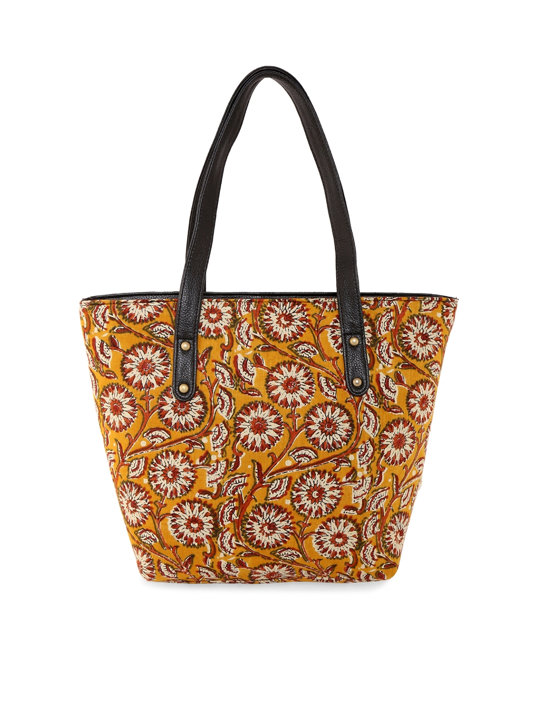 4fbb0d50274 Buy Vivinkaa Mustard Printed Tote Bag - Handbags for Women 6718605 ...