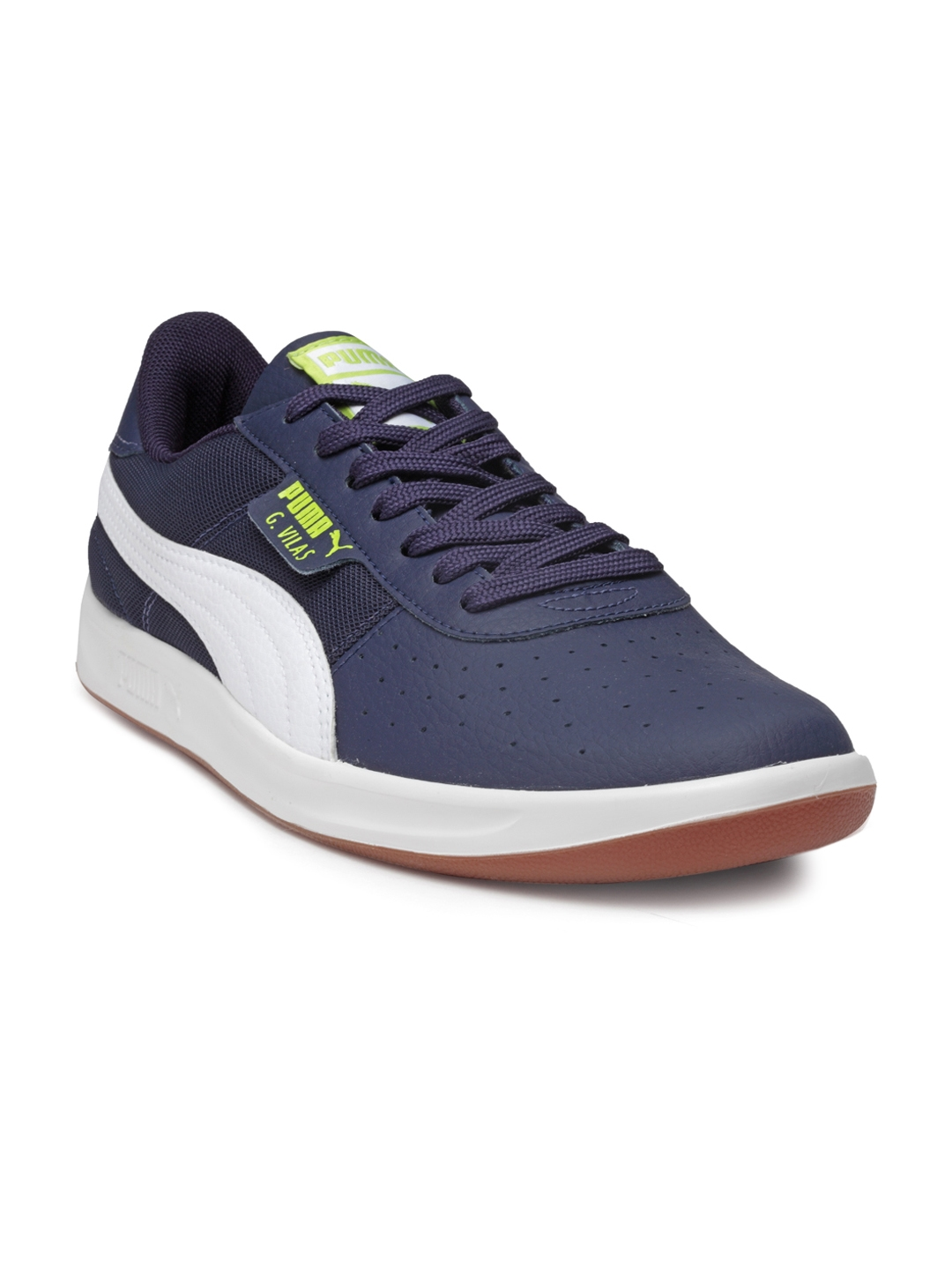 ed37fbcfa222 Puma Men Navy Blue G. Vilas 2 Core IDP Peacoat-Puma White Sneakers