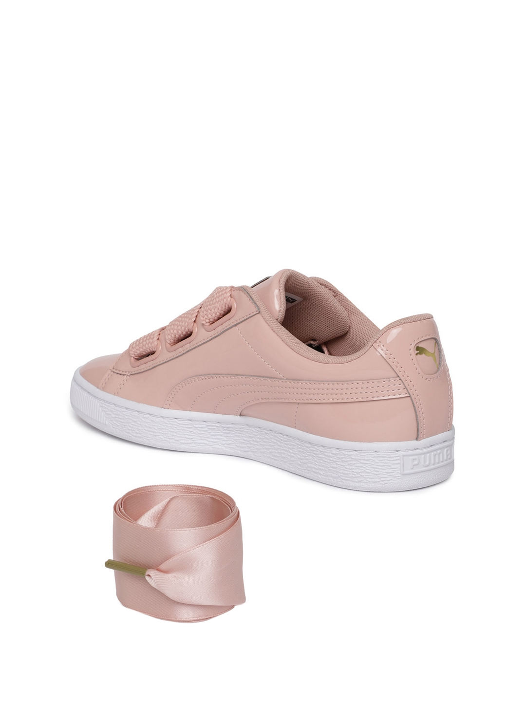 a08e30dbb4324c Buy Puma Women Pink Basket Heart Patent Wn S Leather Sneakers ...