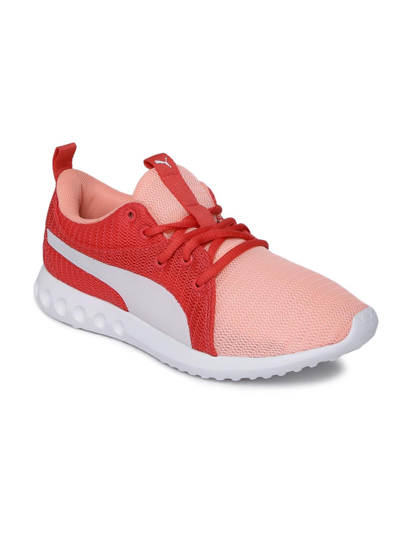 ed3c2e824153 Puma Girls Coral Carson 2 JR IDP Soft Fluo Peach-Puma Whi Sneakers