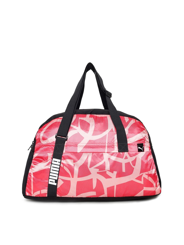 e6125e8e9d70 Buy Puma Women Pink   Black Printed Core Active Sportsbag M Duffel ...