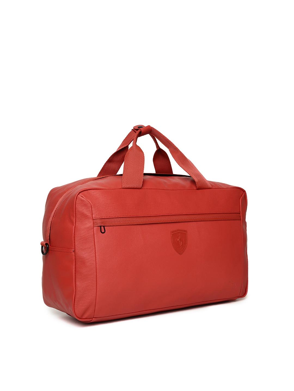 Buy Puma Unisex Red Scuderia Ferrari LS Weekender Duffel Bag ... a0960378eb7f2