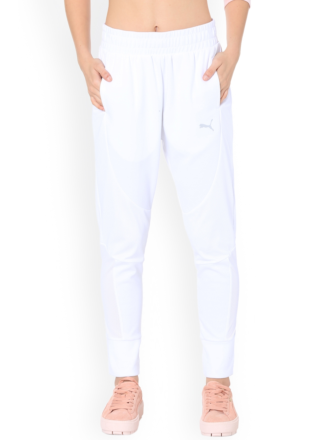 6185a836946f Buy Puma Women White Track Pant - Track Pants for Women 6745543