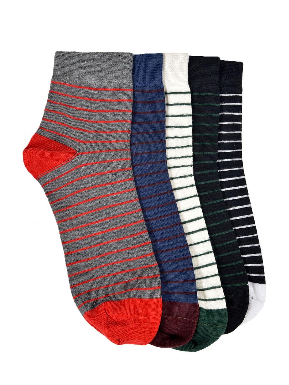 MARC Men Set of 5 Striped Ankle Length Socks