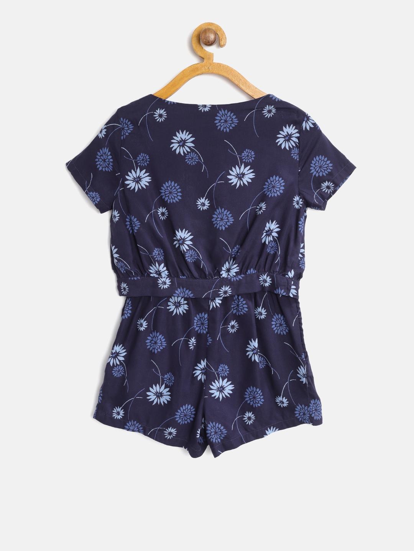 c6dbcf62cea Buy Tommy Hilfiger Navy Blue Floral Print Playsuit - Jumpsuit for ...
