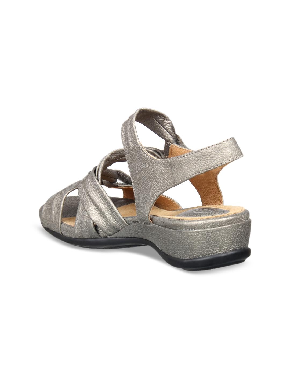 658e44a7163 Buy Clarks Women Grey Comfort Sandals - Sandals for Women 6765905 ...