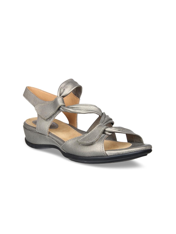 6d32d6b03bbc Buy Clarks Women Grey Comfort Sandals - Sandals for Women 6765905 ...