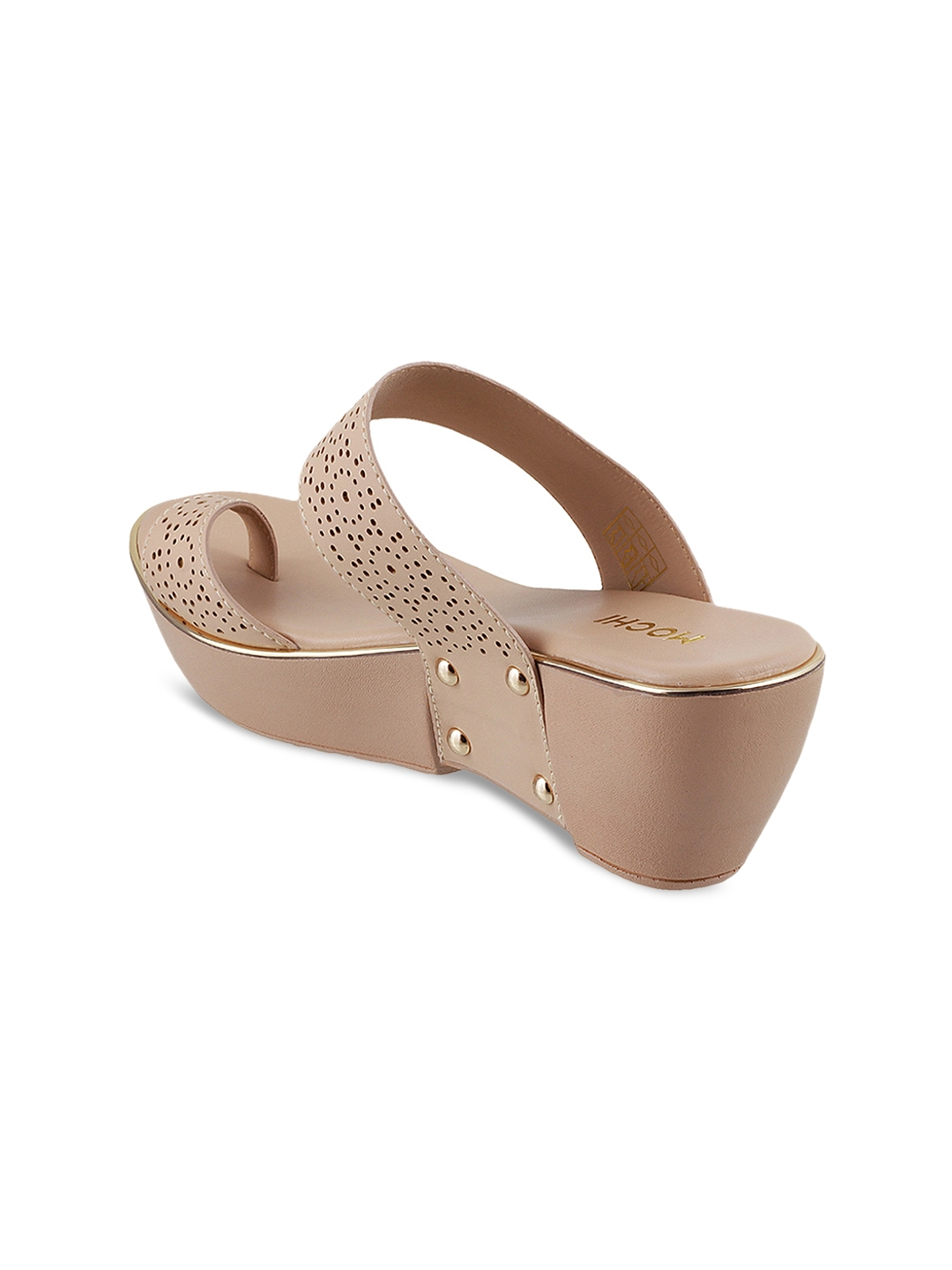 9855c90d3c Buy Mochi Women Beige Solid Wedges - Heels for Women 6765933 | Myntra