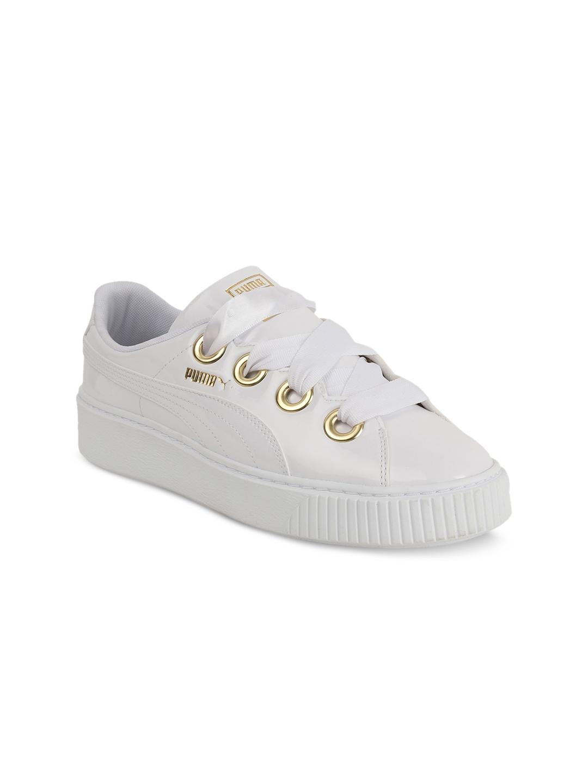 8dd2ccf3b4d014 Buy Puma Women White Platform Kiss Patent Wn S Sneakers - Casual ...