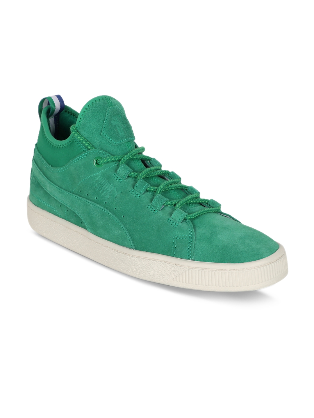 8df2a78445 Puma Unisex Suede Mid BIG SEAN Green Solid Suede Mid-Top Sneakers