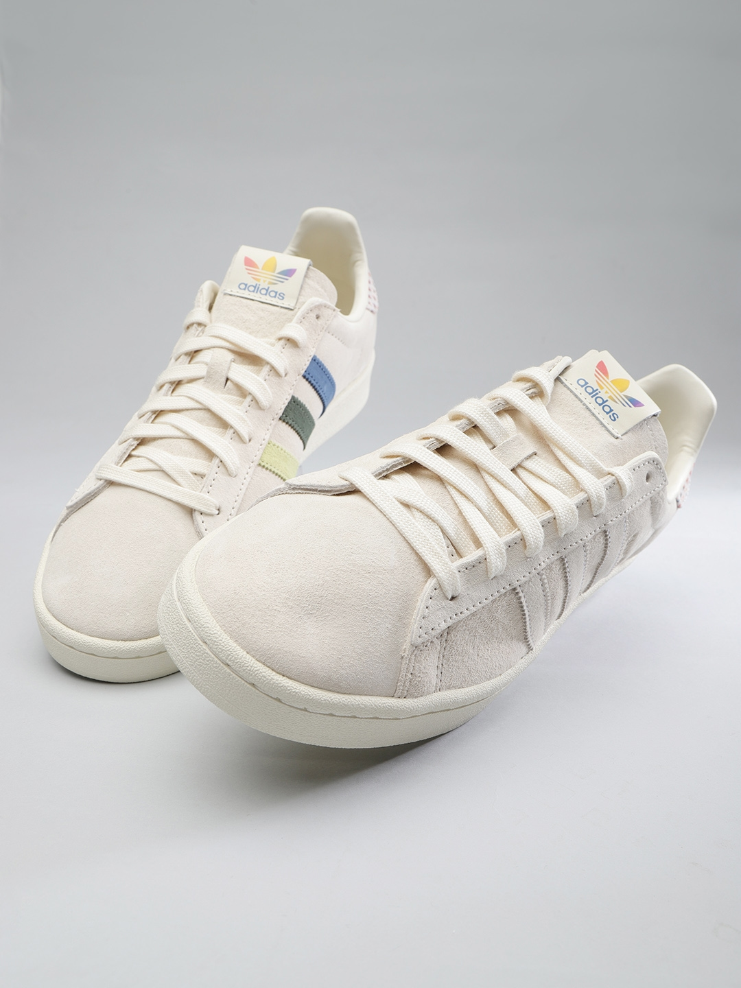 check out 66136 31d16 ADIDAS Originals Men Cream-Coloured Campus Pride Sneakers