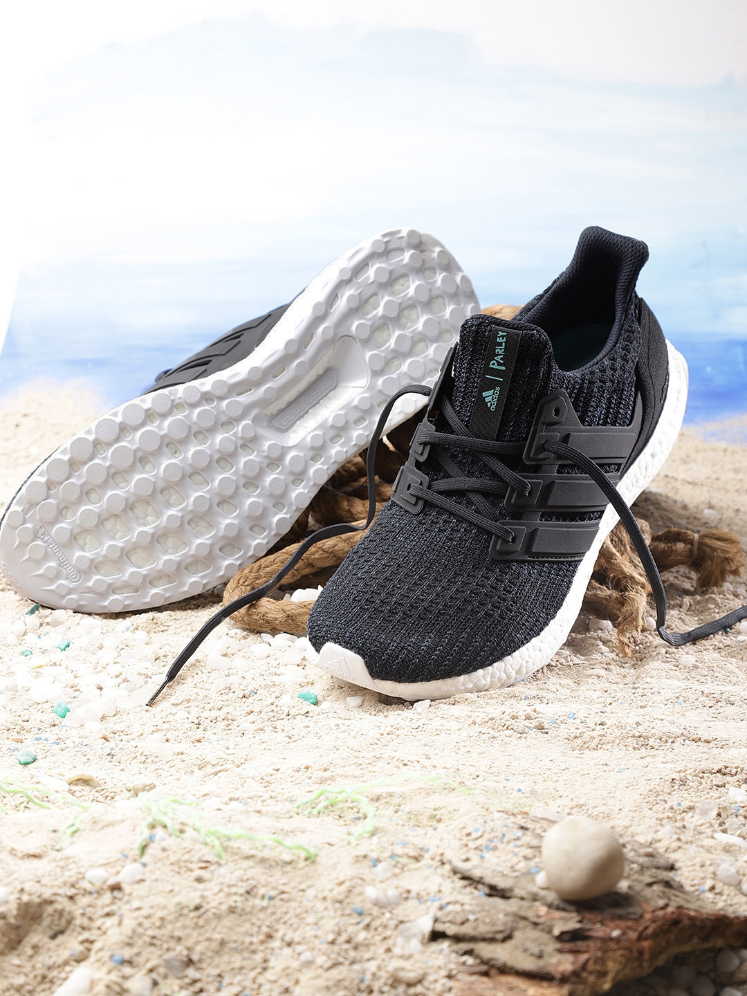 a835dab46 Buy ADIDAS Men Navy Blue   Black Ultraboost Parley Running Shoes ...
