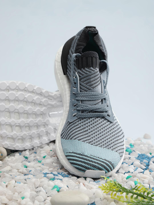 online retailer c880f 63e3c ADIDAS Women Blue & Charcoal Grey Ultraboost X Parley Running Shoes