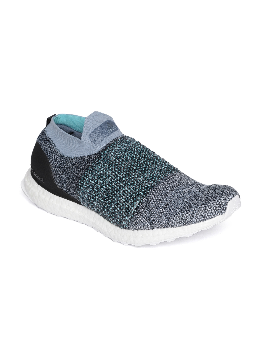 c0d5eb062a7 Buy ADIDAS Men Blue   Grey Ultraboost Laceless Parley Running Shoes ...