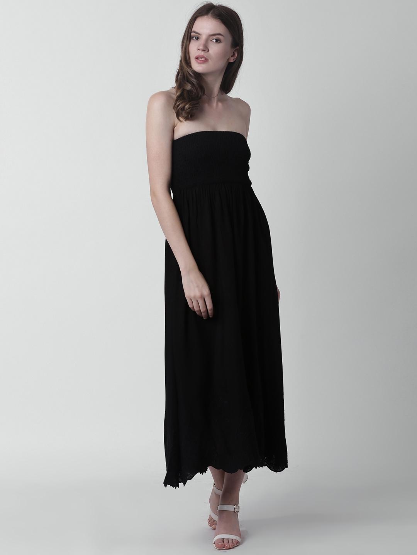 0427853a4c7 Buy FOREVER 21 Women Black Solid Maxi Dress - Dresses for Women ...