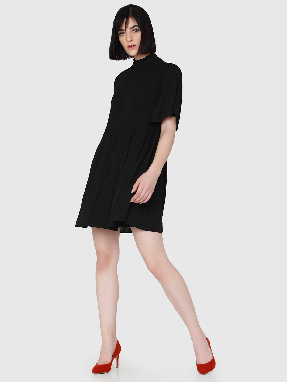 39f771cae54 Buy Vero Moda Women Black Solid A Line Dress - Dresses for Women ...