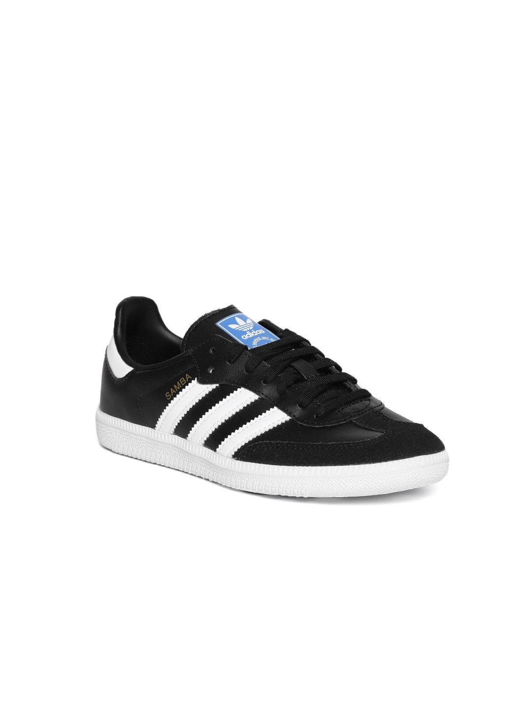 Buy Adidas Originals Kids Black Samba OG J Leather Sneakers - Casual ... ff1ae4afd0