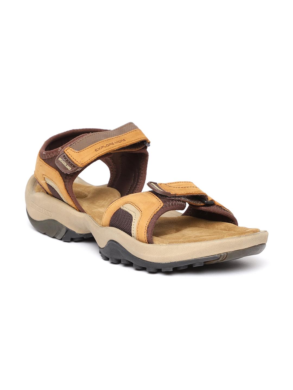 821714373210 Buy Woodland ProPlanet Men Brown Nubuck Leather Comfort Sandals ...