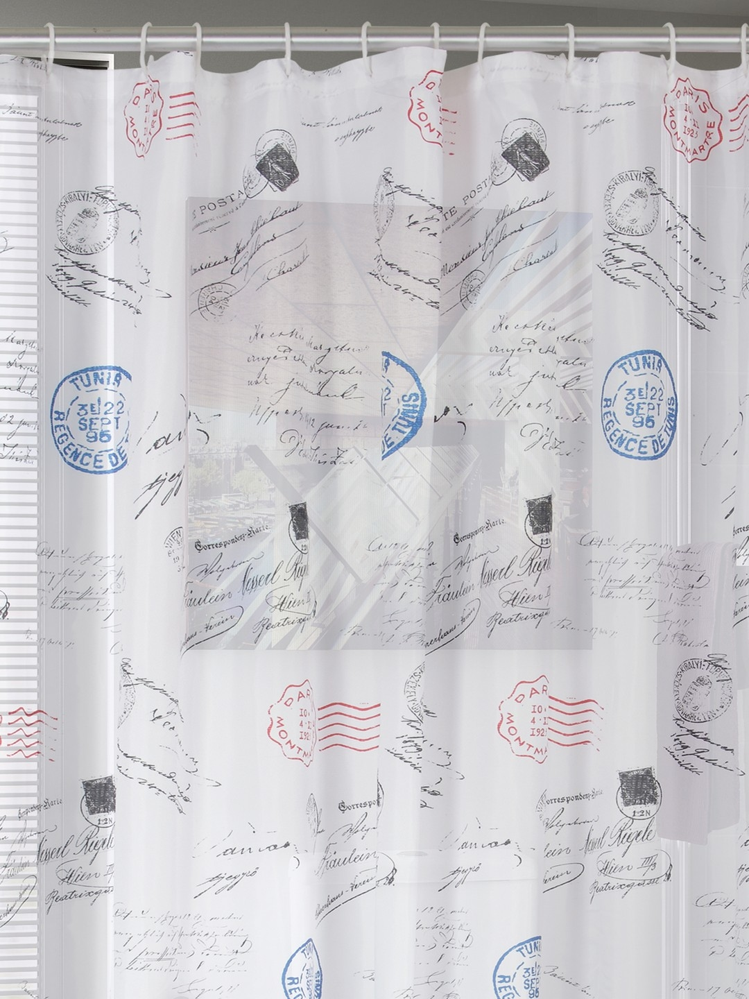 Buy BOMBAY DYEING Window White Printed Shower Curtain