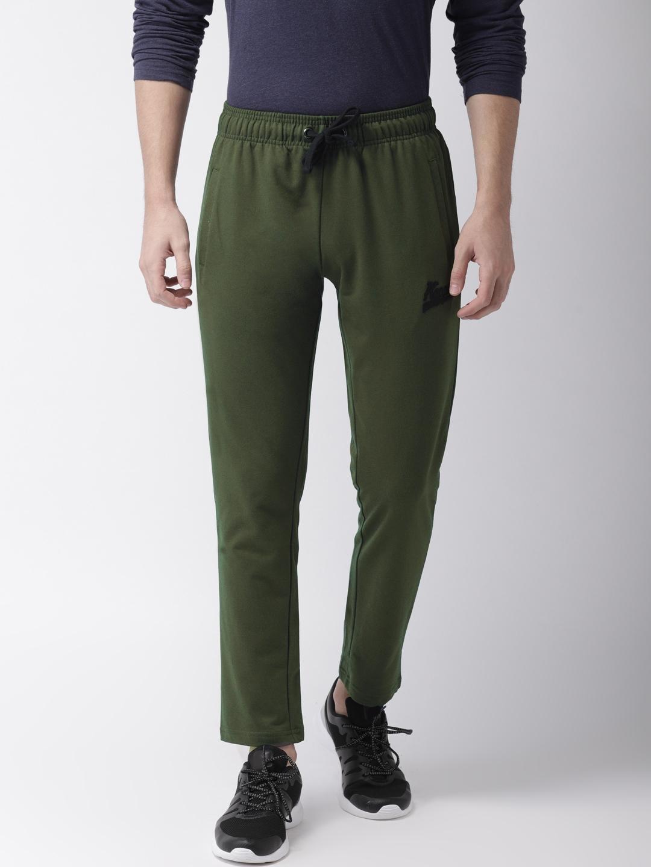 aab1c2c93e Buy Kappa Men Olive Green Slim Fit Solid Track Pants - Track Pants ...