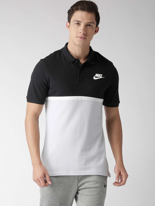 d06ef362 Nike Men Black & Grey Colourblocked MATCHUP PQ NVLTY Polo Collar T-Shirt