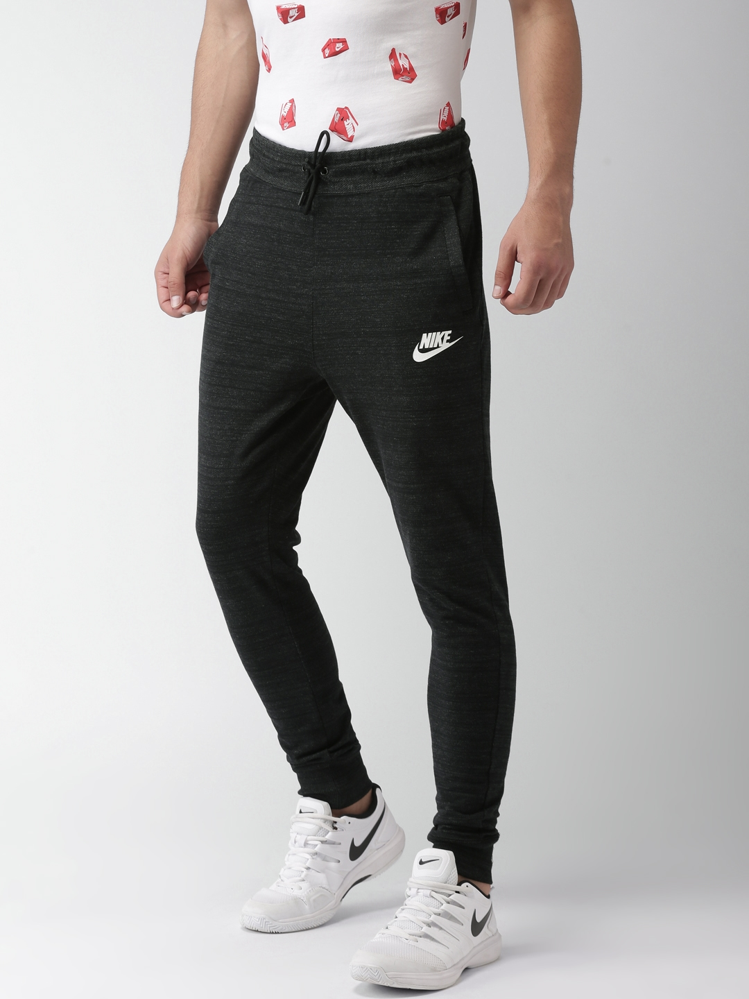 11482307688c Buy Nike Men Black AS M NSW AV15 KNIT Advance 15 Regular Joggers ...