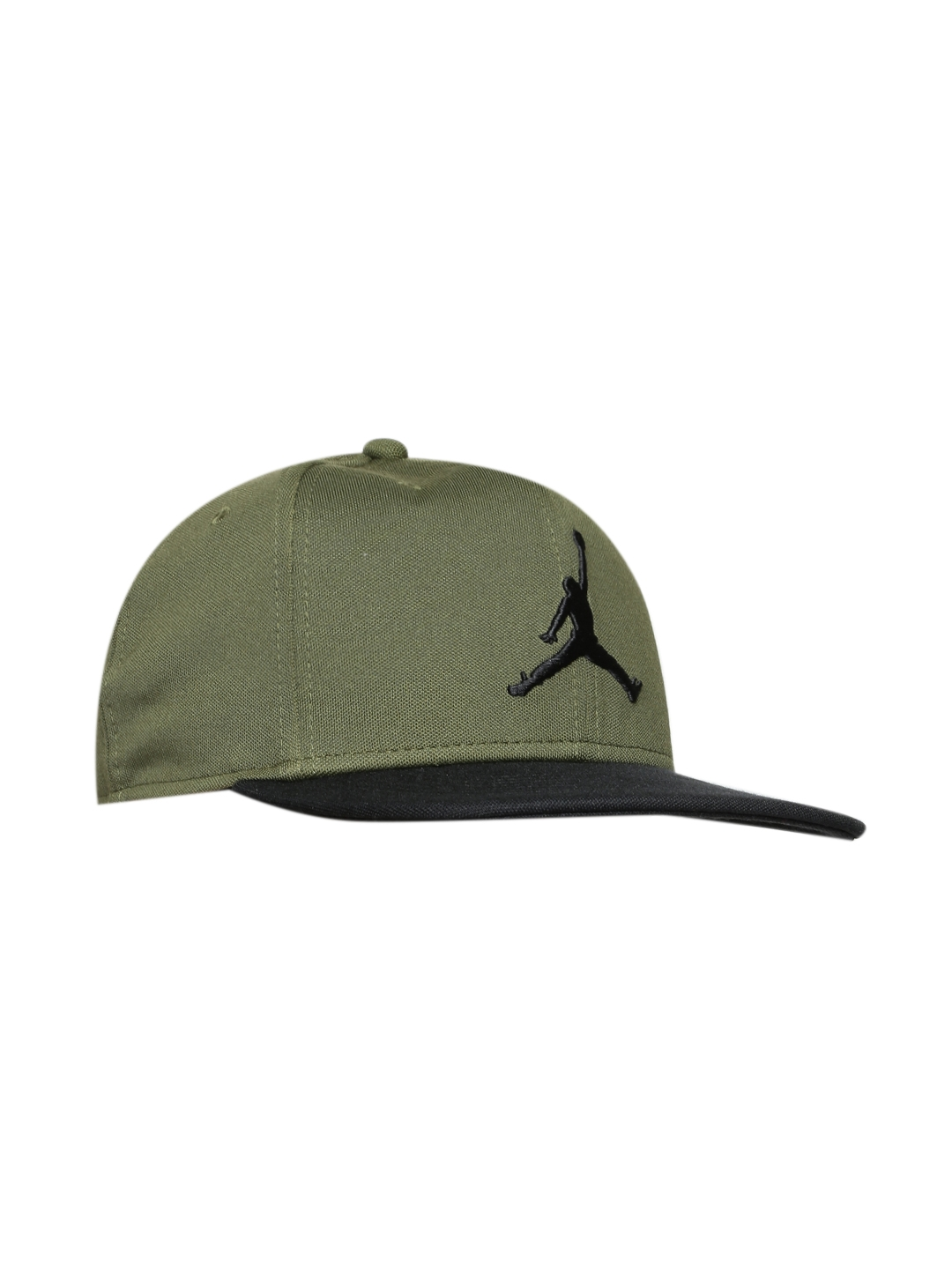 e361834d80d Buy Nike Unisex Olive Green JORDAN JUMPMAN Snapback Cap - Caps for ...