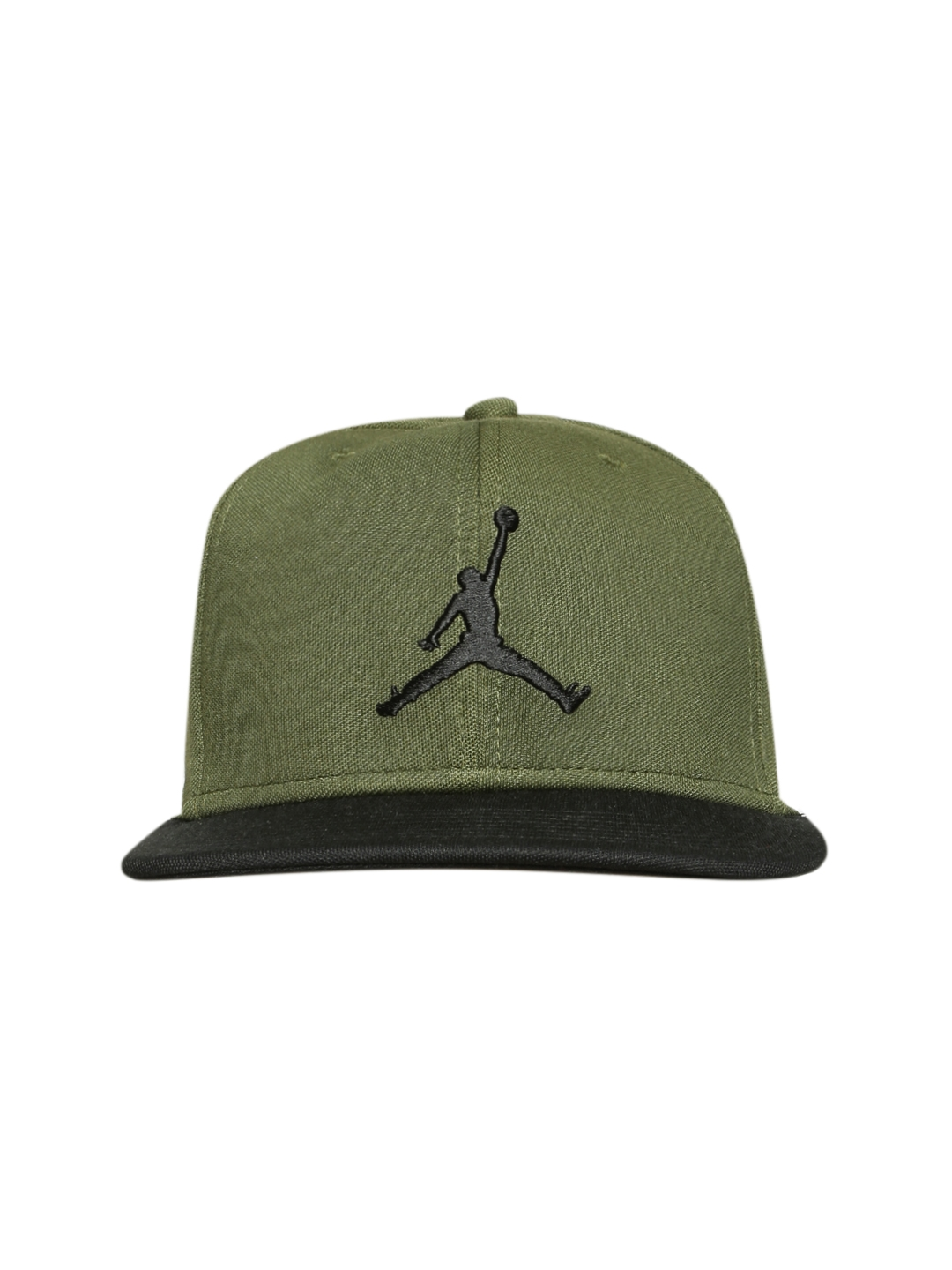 234a7a27517621 Buy Nike Unisex Olive Green JORDAN JUMPMAN Snapback Cap - Caps for ...