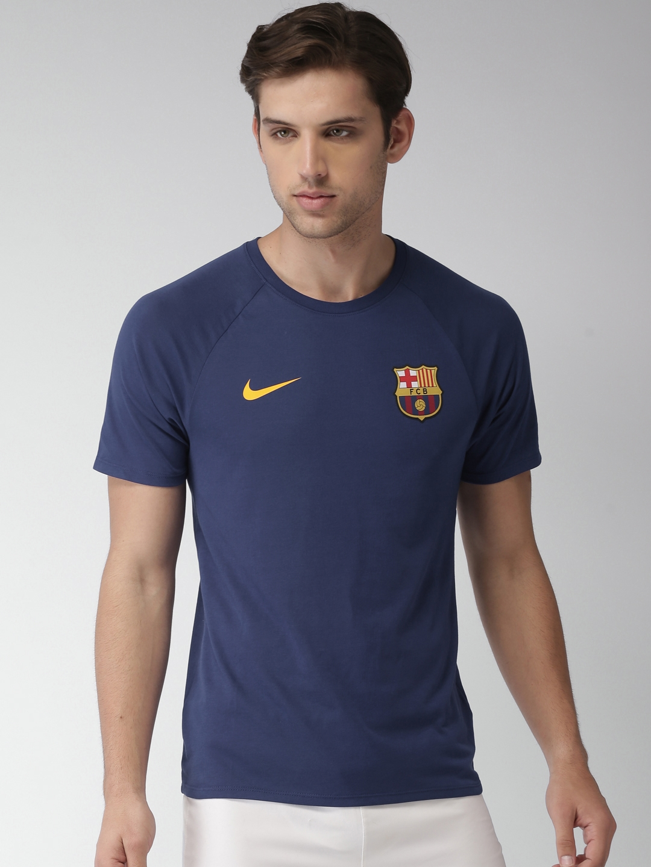 a8d9382101e Buy Nike Men Blue Printed FC Barcelona DRI FIT Football Tshirt ...