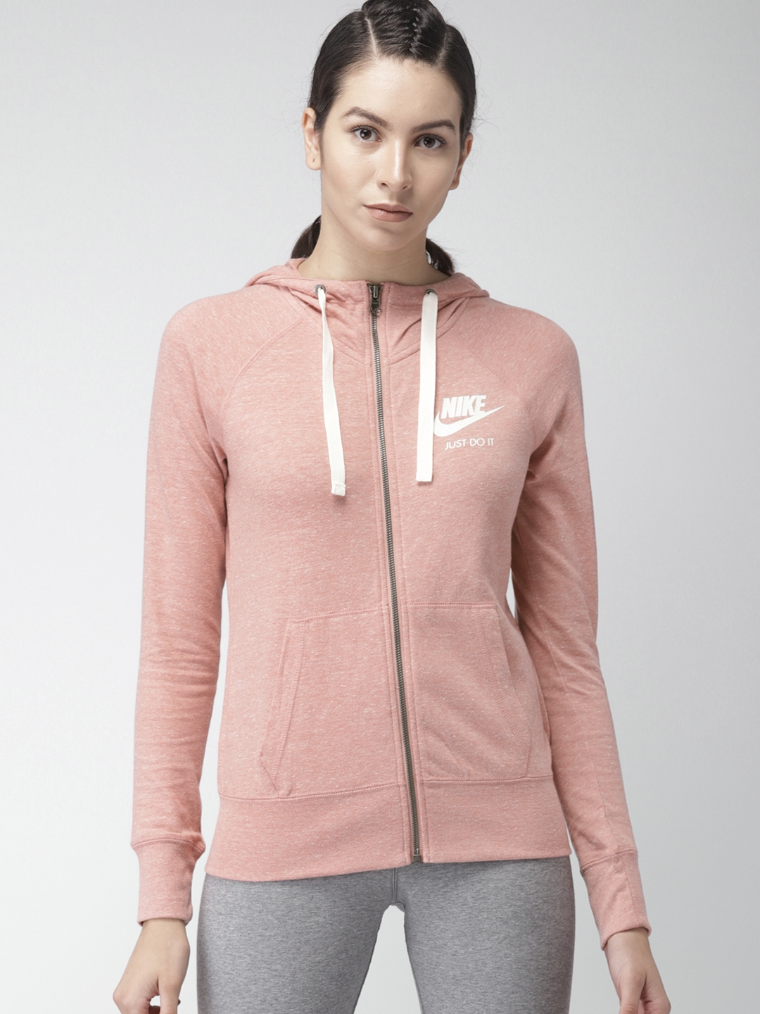 0d375ca60999 Buy Nike Women Pink AS W NSW GYM VNTG HOODIE FZ Sporty Jacket ...