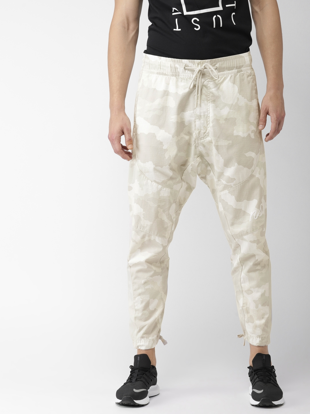 1d7aef451f308c Buy Nike Men Beige Camouflage Print NSW PANT WVN CAMO Joggers ...