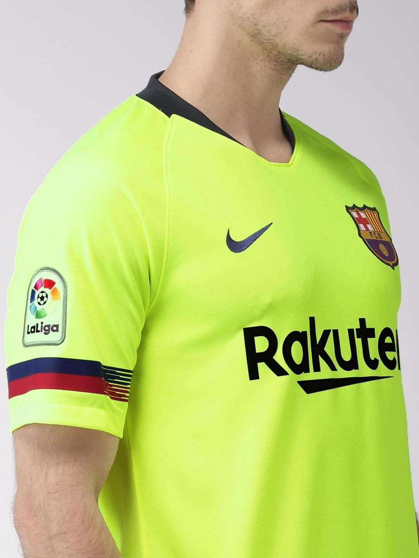 9ee16128e Buy Nike Men Flourescent Green Printed Breathe FC Barcelona DRI FIT ...