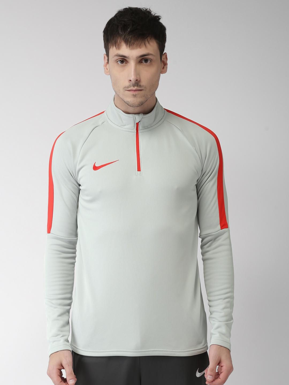 d295ce01 Nike Men Grey DRI-FIT Standard Fit Nike Academy Football Drill Sweatshirt